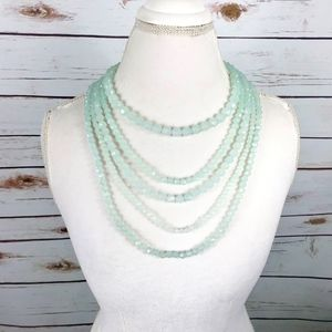 Multi Strand Acrylic Faceted Bead Necklace
